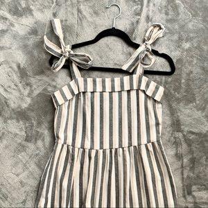 Robert Louise   striped pocket dress w/ bow strap